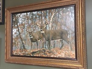 ( TRADE) Bruce Miller canvas whitetail prints