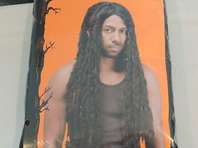 Adult * BLACK REGGAE WIG*  NEW IN PACKAGE One Size Jamaican Rasta