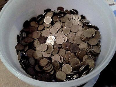 10 Pfennig-Stücke,  200 Münzen (= 4Rollen) aus Umlauf ()
