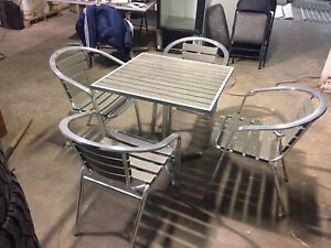 Aluminum patio chairs and tables