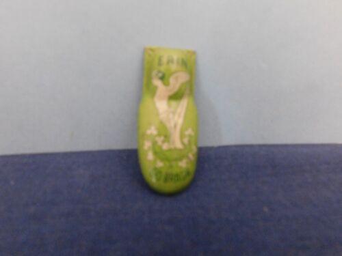 Vintage Kirchoof Erin Go Bragh Angel Harp Toy Clicker Green