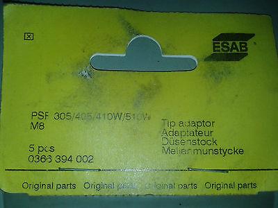 6pcs Original Esab Parts Tip Adaptor M8 Psf 305 405 410w 510 Welding 366 394 002