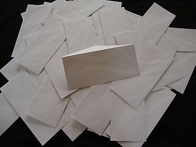 100 No. 10 Security Letter Envelopes Top Flight White 4.1x9.5 Tinted Paper