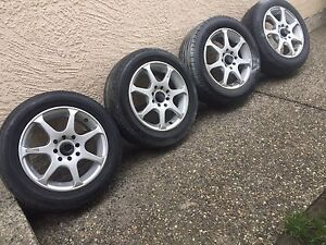 4x 100 N 4x114.3 Rims with 8tires