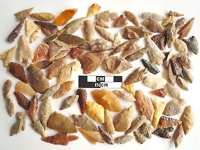 Neolithic Arrowheads x 100, Selection of Styles and Sizes - 4000BC - (0764)