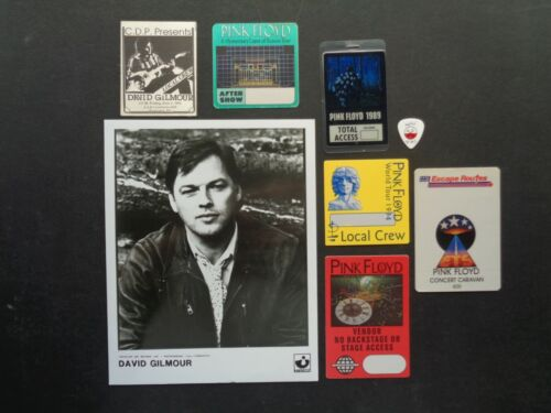 PINK FLOYD,DAVID GILMOUR,Promo Photo,6 Original Backstage Passes,Guitar Pick