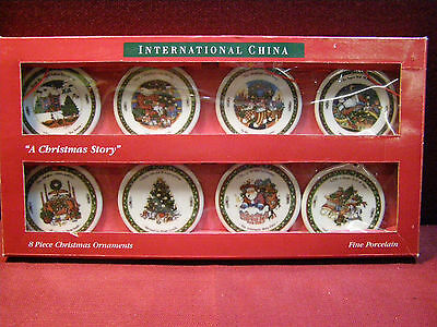 Set of (8) International China A Christmas Story Ornaments