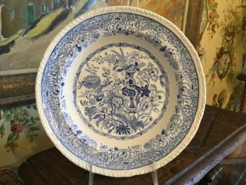 Antique English Staffordshire Transferware Bowl Flora