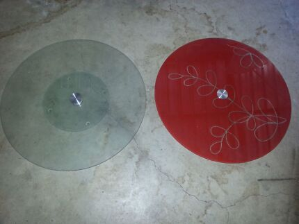 2 X 45cm glass lazy susan Canley Heights Fairfield Area Preview