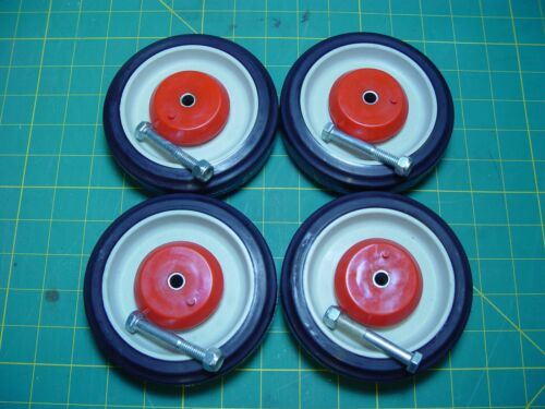 """PEMCO HD Set of 4 Replacement Shopping Cart Caster Wheels 5"""" Diameter"""