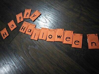 Happy Halloween Advent Calendar felt countdown double sided candy orange black