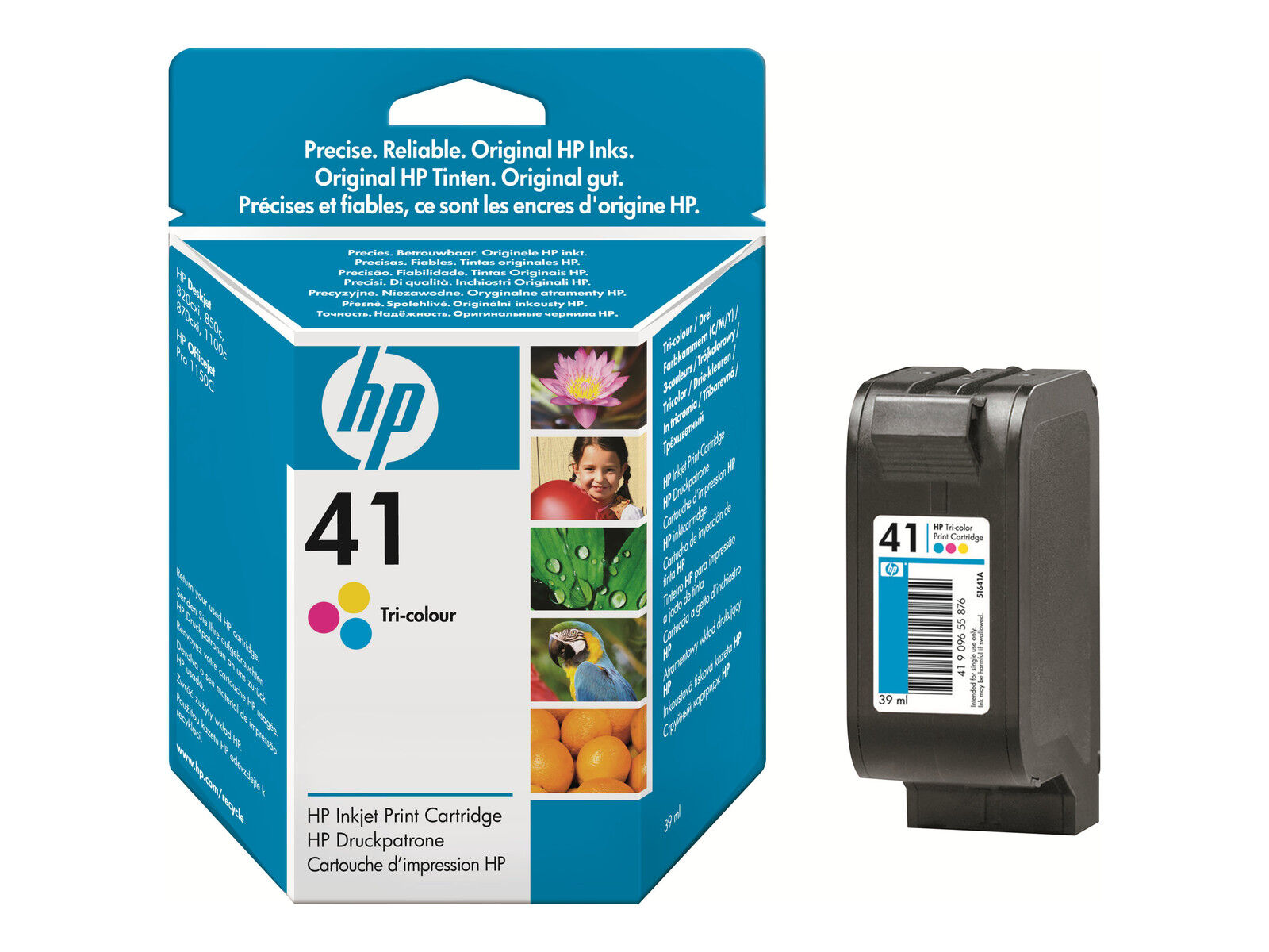 2013 HP 41 Tri-Color 51641A Ink Cartridge Genuine OEM