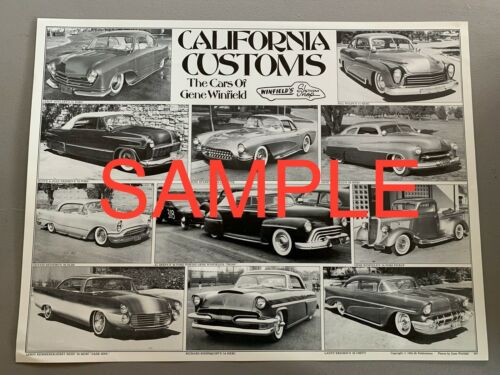 California Customs The Cars of Gene Winfield Poster Dean Batchelor print custom