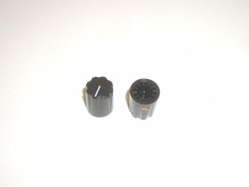 "CED P-K801 INSTRUMENT DIAL KNOB BLACK SMALL 1/4"" SHAFT 2PC SET"
