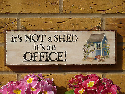 PERSONALISED GARDEN SHED SIGN GARDEN OFFICE OUTDOOR WORKROOM OFFICE SUPPLIES - Personalized Office Supplies