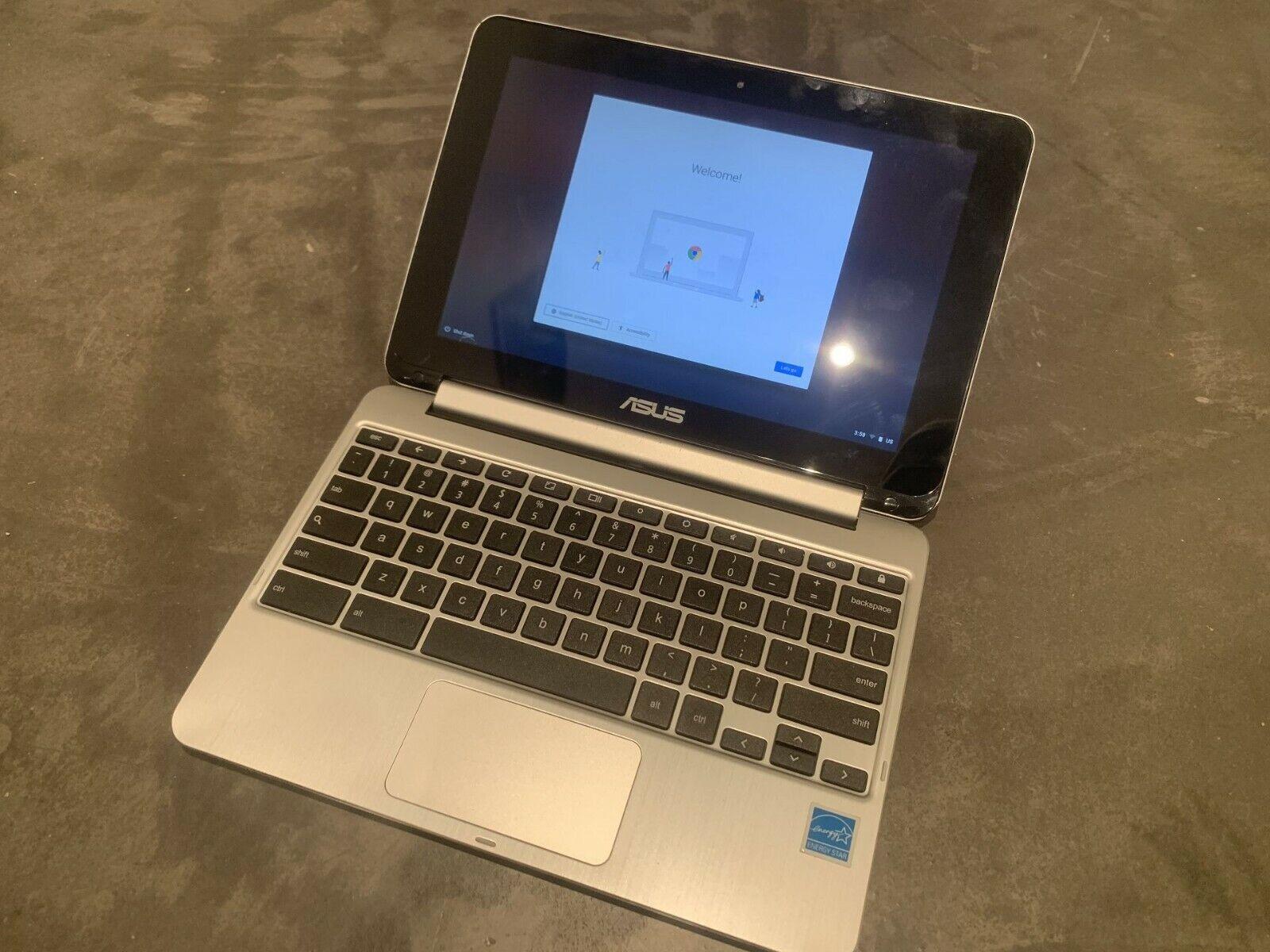 Asus chromebook flip c100p 1,6ghz 4gb ram 16gb ssd 10,1