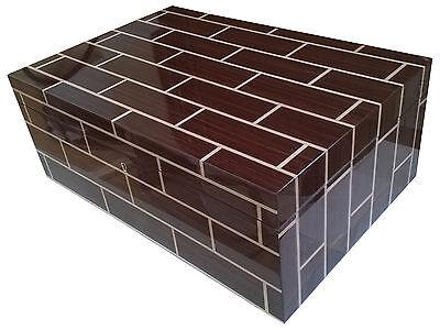 Ercolano Rosewood Wooden Handmade Italian Luxury Brown Jewelry Box with Tray Lar
