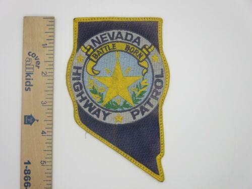 NEVADA HIGHWAY PATROL PATCH BATTLE BORN Vintage Original Used & Worn