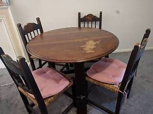 Dark Wood Stain Round Dining Table Hornsby Hornsby Area Preview