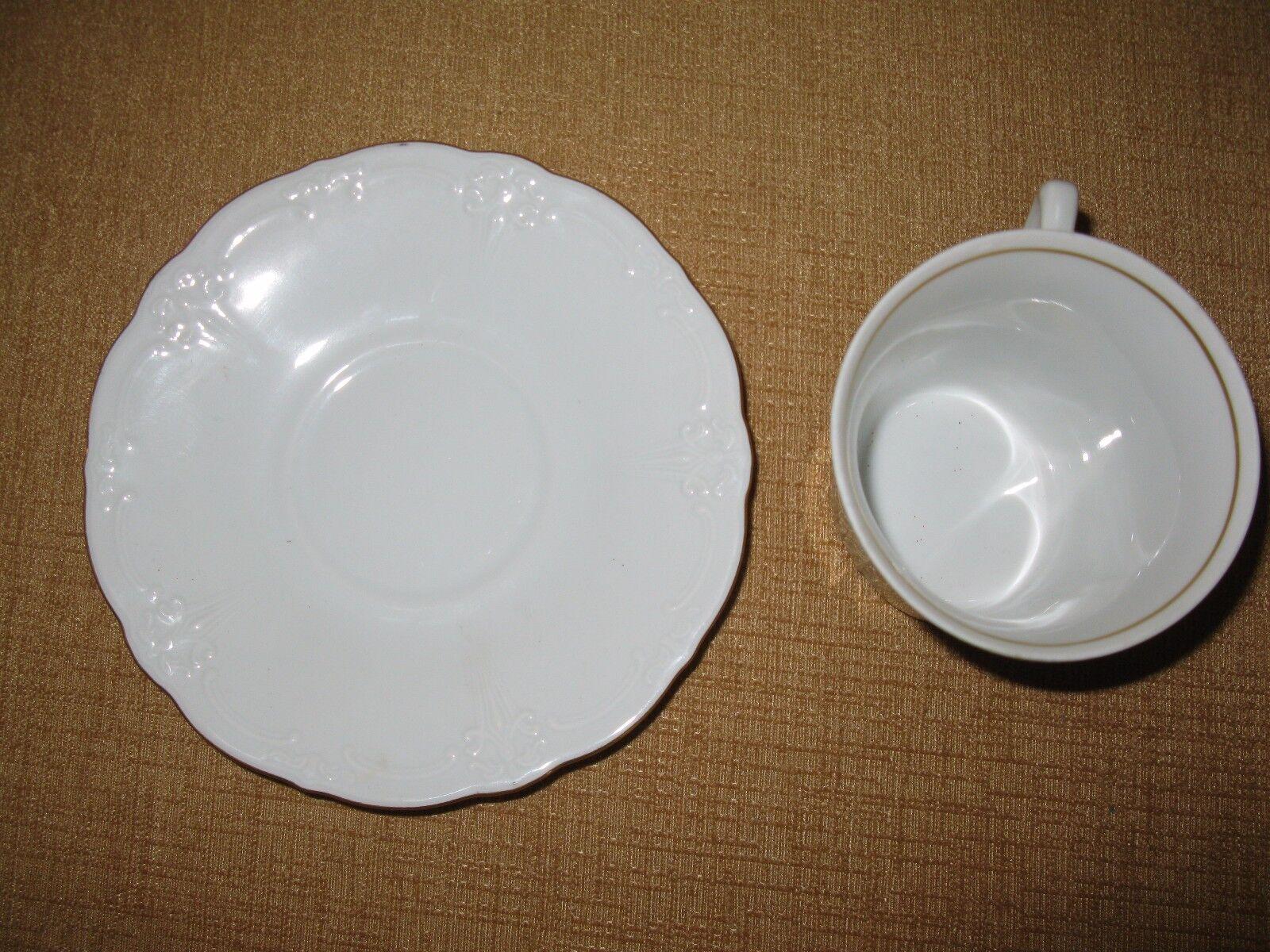 hutschenreuther selb dresden embossed germany 1814 cup saucer plate mug tea cad. Black Bedroom Furniture Sets. Home Design Ideas