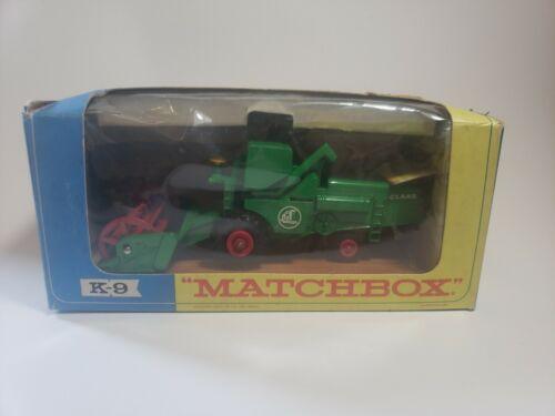 New rare Matchbox Lesney 1967 K9B Claas Combine Harvestor