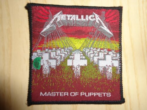 """PATCH METALLICA """"MASTER OF PUPPETS"""" VINTAGE RARE"""