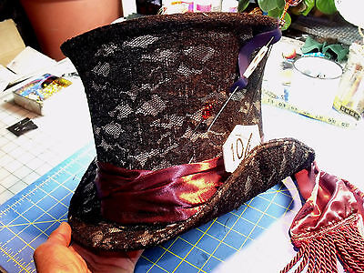 - Handmade Deluxe Johnny Depp Mad Hatter Top Hat