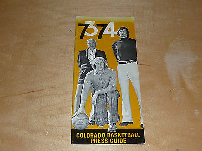 1973 1974 Colorado College Basketball Track Wrestling Skiing Media Guide Ex