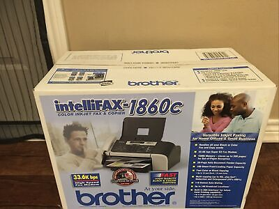 New Brother Intellifax-1860c Color Inkjet Fax Machine And Copier