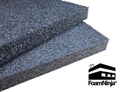 Polyethylene Foam Case Shipping Packaging 5 Pk 1x12x24 Charcoal Black 1.7 Pcf