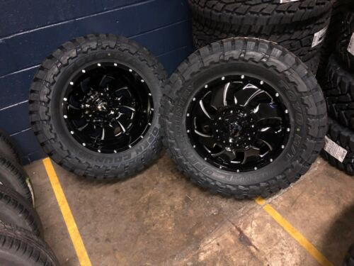 "20"" Fuel Cleaver Dually D574 Wheels 35"" Toyo Mt Tires 8x6.5 Dodge Ram Package"