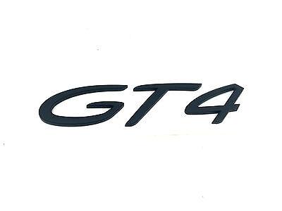 New Genuine Porsche Cayman Boxster GT4 Script Rear Badge In Black