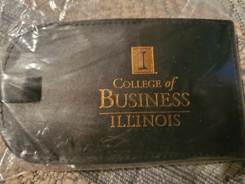 Leather Luggage Tag College Of Business Illinois