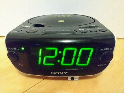 SONY ICF-CD815 Dream Machine AM FM CD Alarm Clock Radio CD-R/R w/AUX input.