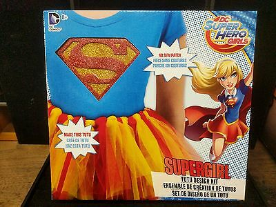 DC Superhero Girls Supergirl Tutu Design Kit Wth Patch Costume Party