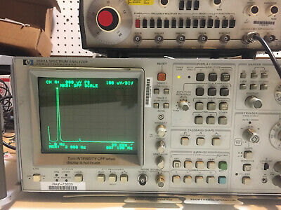 Hp 3582a Spectrum Analyzer 25khz Dual Channel