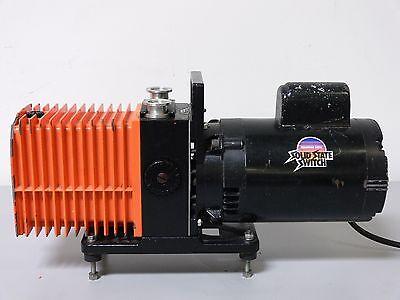Alcatel 2008a Dual Stage Rotary Vane Vacuum Pump W Franklin 12 Hp Motor