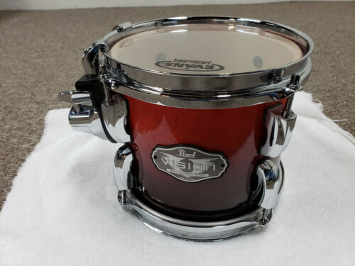 Pearl Vision Birch Rack Tom #232 Ruby Fade 8X7""