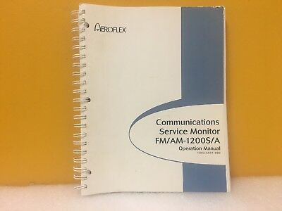 Aeroflex 1002-5501-000 Communications Service Monitor Fm Am 1200sa Manual