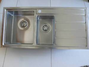 CLARK PETE EVENS 1.5 BOWL STAINLESS STEEL KITCHEN SINK-EX DISPLAY Kogarah Rockdale Area Preview
