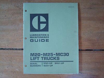 Caterpillar M20-m25-mc30 Lift Trucks Lubrication Maintenance Guide