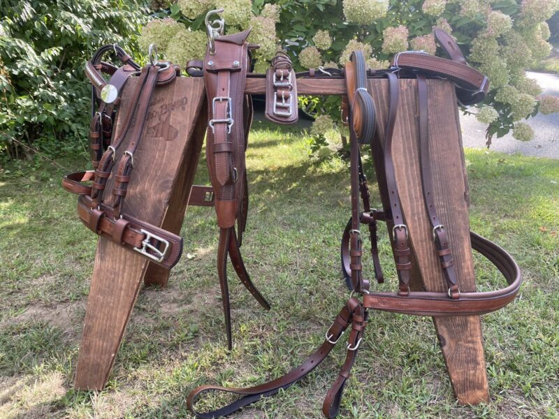 Leaders Leather Pleasure Harness- Pony Size! Brown!