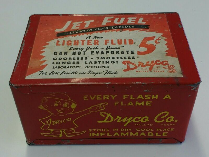 Dryco Co Lighter Fluid Tin