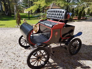 1901 Oldsmobile replica 5hp honda motor took 2 years to build