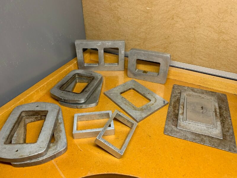 ALUMINUM MOLD FRAMES FOR RUBBER JEWELRY MOLD MAKING 👀