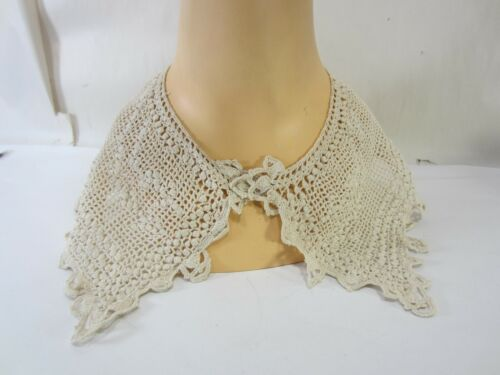 Antique Ladies Crocheted Lace Dress Collar