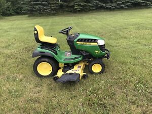 "JD Riding lawn mower with 54"" cutting deck"