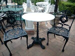 old cast iron white marble  garden set Concord West Canada Bay Area Preview