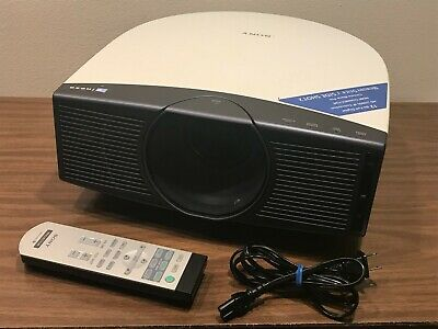 SONY VPL-HS20 CINEZA 720P LCD PROJECTOR + REMOTE, CABLE / NEEDS NEW LAMP