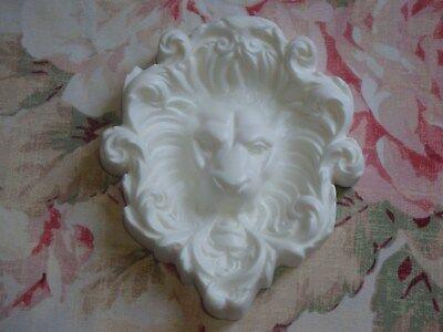- New! Unique Lion Head Mane Furniture Applique Architectural Pediment